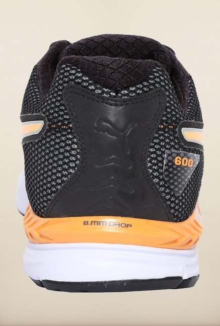 Puma Ignite Black & Orange Pop Running Shoes