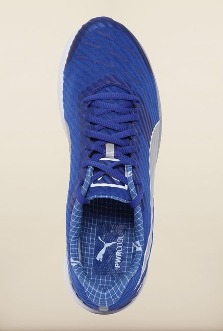 Puma Ignite Blue & Silver Running Shoes