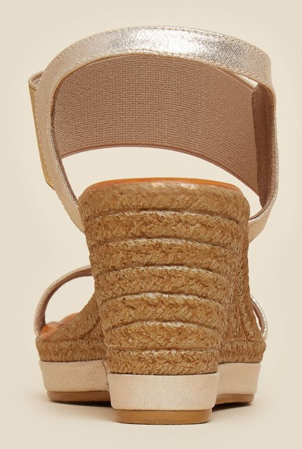 Inc.5 Gold Wedge Sandals
