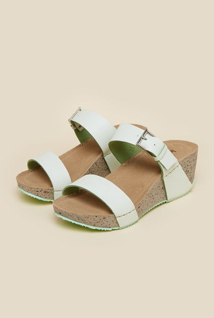 Inc.5 Light Green Wedge Heel Sandals