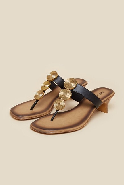 Inc.5 Black T-Strap Kitten Sandals