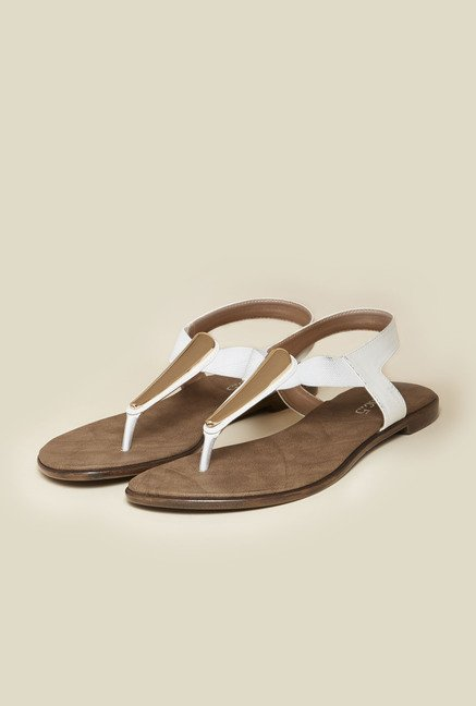 Inc.5 White Back Strap Flat Sandals