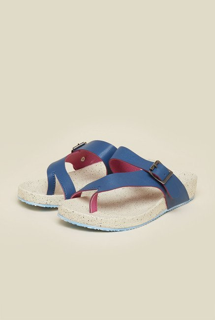 Inc.5 Blue Wedge Heel Sandals
