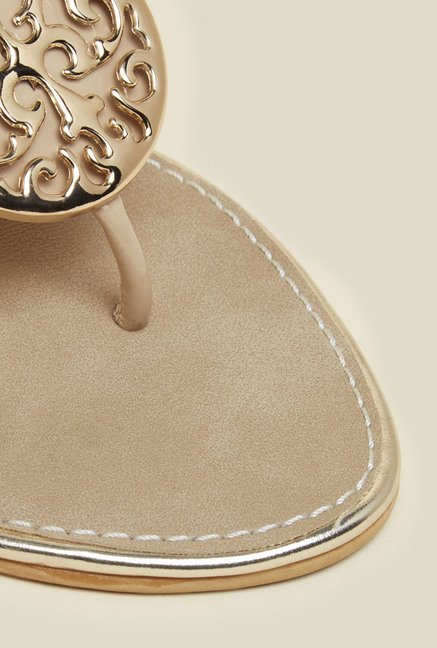 Inc.5 Beige Wedge Heel Sandals