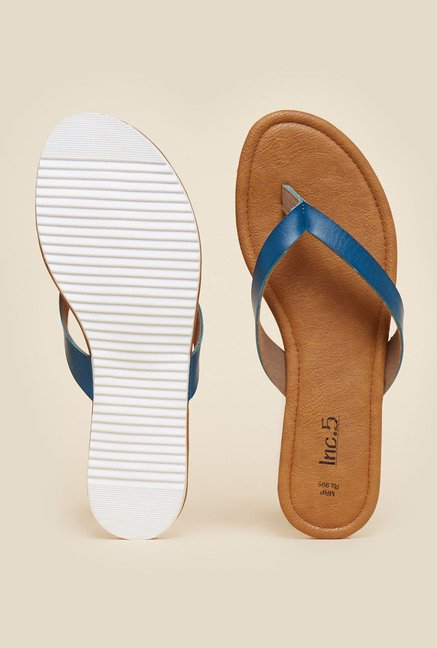 Inc.5 Blue Flat Thongs