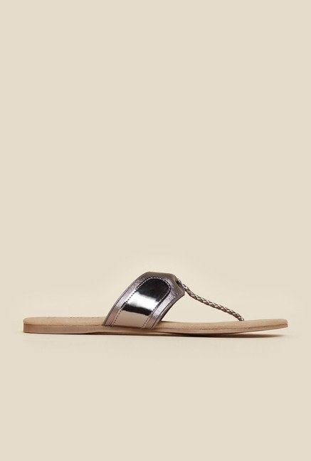 Inc.5 Gun Metal Flat Sandals