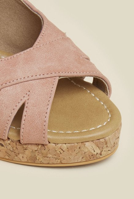 Inc.5 Light Pink Peep Toe Wedges