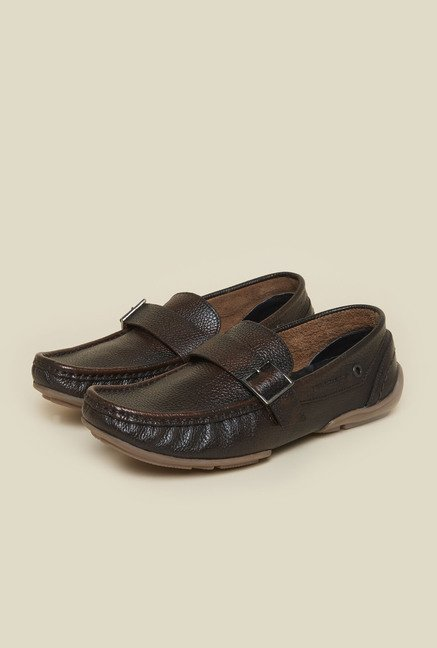 Privo by Inc.5 Brown Leather Formal Moccasins