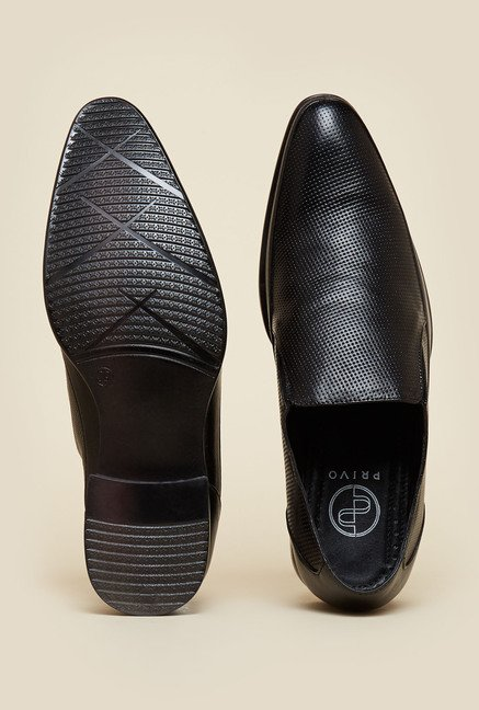 Privo by Inc.5 Black Leather Formal Slip-Ons
