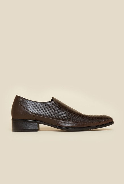 Privo by Inc.5 Brown Leather Formal Shoes