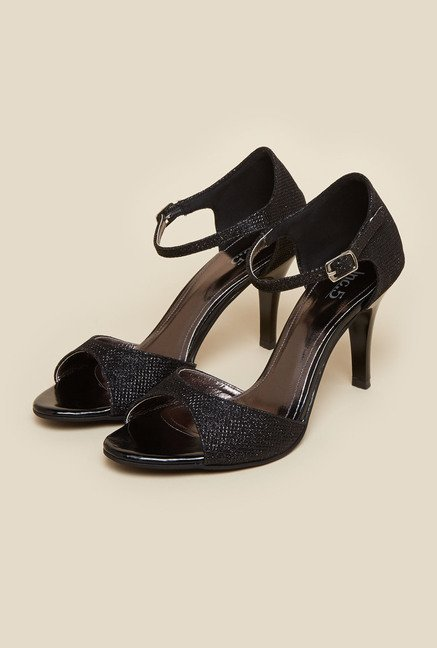 Inc.5 Shimmery Black d'Orsay Sandals