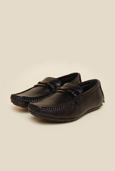 Privo by Inc.5 Black Leather Formal Moccasins