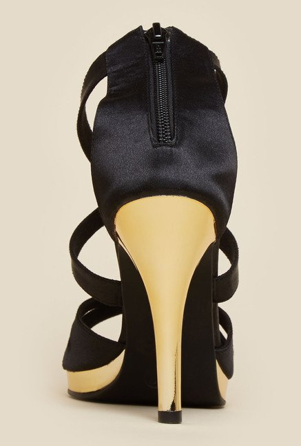 Inc.5 Black Cone Heel Sandals