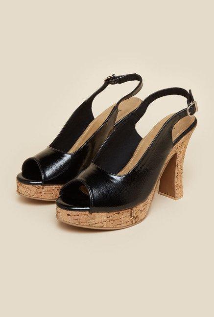acb8ed795f2 Buy Inc.5 Black Block Heel Sandals Online at best price at TataCLiQ