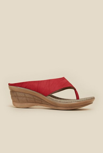 Inc.5 Red Thong Wedges