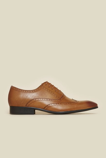 Atesber by Inc.5 Tan Leather Oxford Shoes