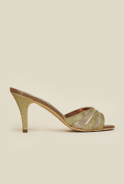 Inc.5 Antique Gold Cone Heel Sandals