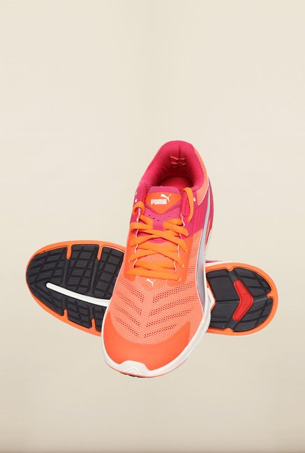Puma Ignite Rose Red & Fluo Peach Running Shoes