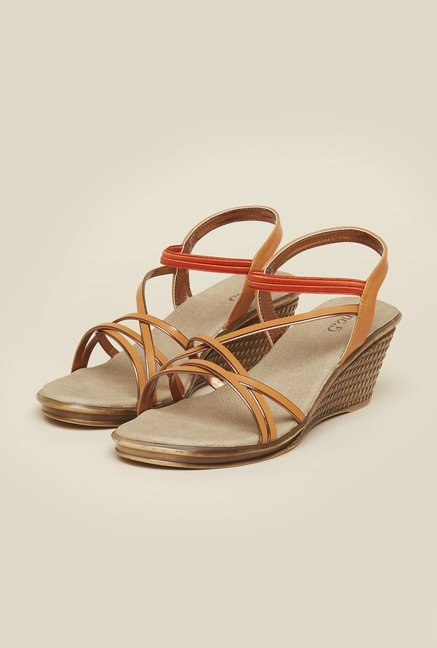 Inc.5 Orange Back Strap Wedges