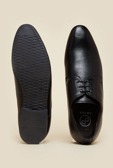 Privo by Inc.5 Black Formal Derby Lace-up Shoes
