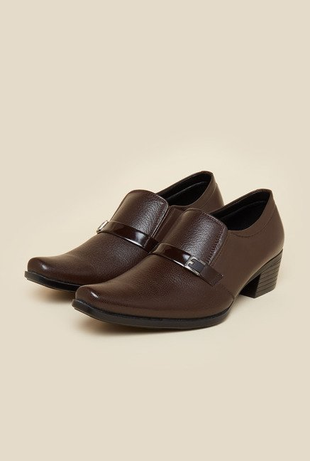 Privo by Inc.5 Brown Leather Slip-On Shoes