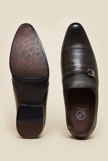 Privo by Inc.5 Dark Brown Slip-On Shoes