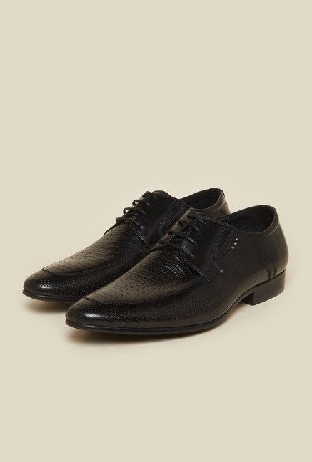 Atesber by Inc.5 Black Leather Derby Shoes