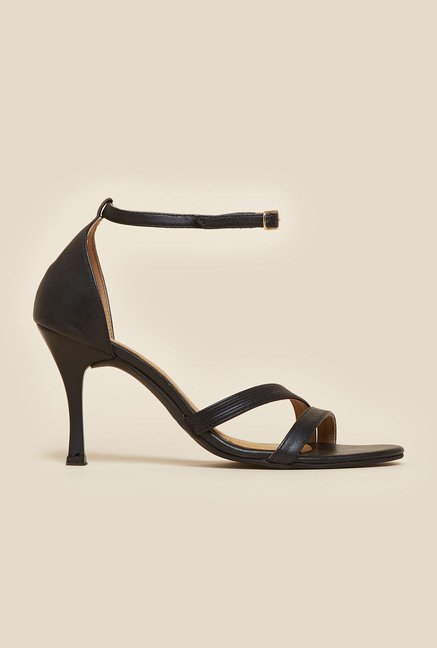Inc.5 Black Leather d'Orsay Sandals