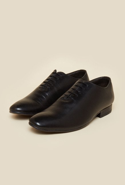 Privo by Inc.5 Black Leather Derby Lace-up Shoes