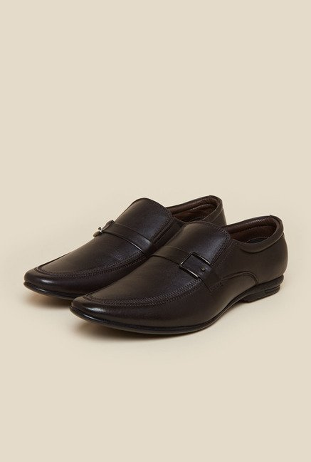 Privo by Inc.5 Dark Brown Leather Formal Shoes