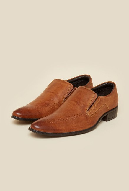 Privo by Inc.5 Tan Formal Slip-On Shoes