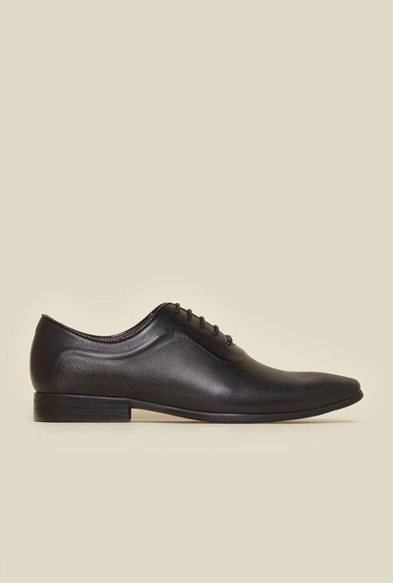 Atesber by Inc.5 Black Leather Oxford Shoes