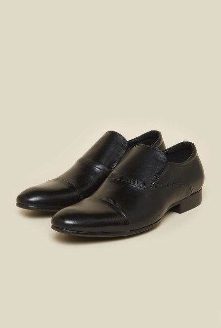 Atesber by Inc.5 Black Leather Formal Loafers