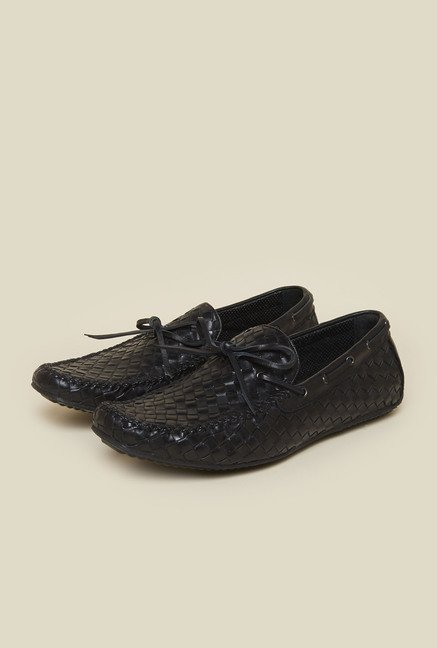 Atesber by Inc.5 Black Casual Boat Shoes