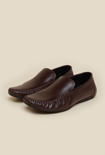 Privo by Inc.5 Brown Casual Moccasin Shoes