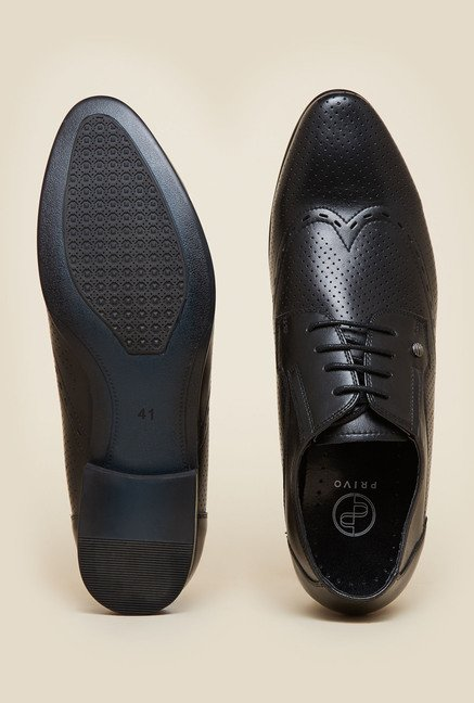 Privo by Inc.5 Black Formal Derby Shoes