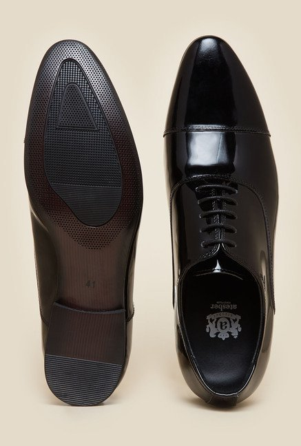 Atesber by Inc.5 Black Oxford Lace-up Shoes