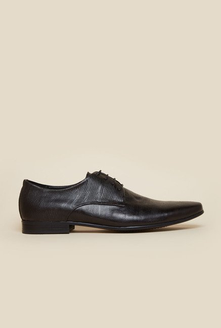 Atesber by Inc.5 Black Derby Lace-up Shoes