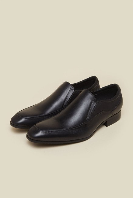 Atesber by Inc.5 Black Leather Formal Slip-Ons