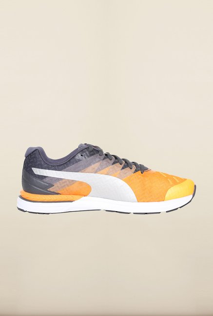 Puma Speed Orange Pop & Grey Running Shoes