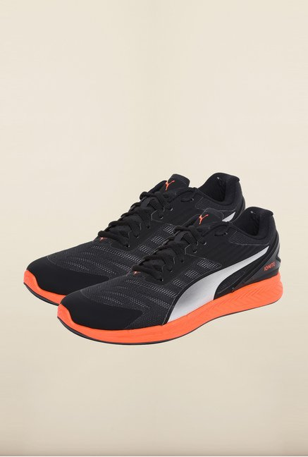Puma Ignite Black & Red Blast Running Shoes