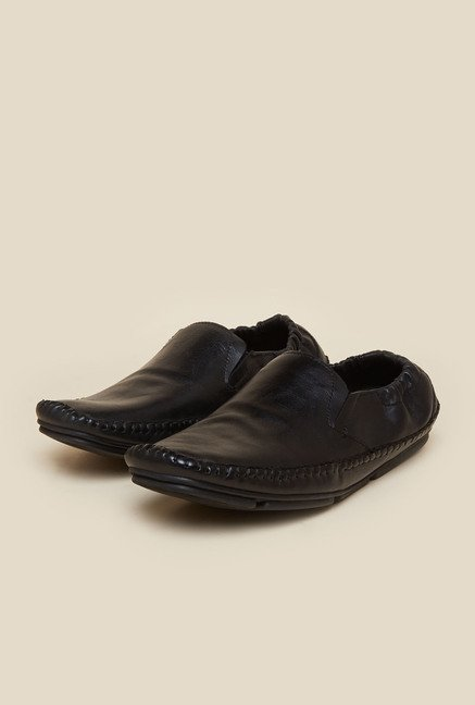 Atesber by Inc.5 Black Leather Moccasins