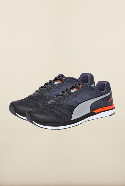 Puma Speed Black & Silver Running Shoes