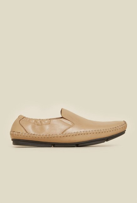 Atesber by Inc.5 Beige Leather Moccasins