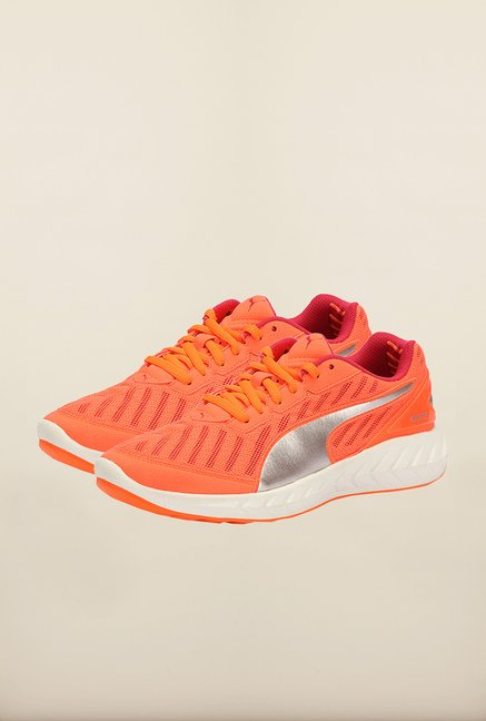 Puma Ignite Fluo Peach & Rose Red Running Shoes