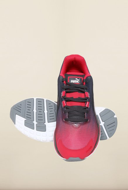 Puma Faas Rose Red & Black Running Shoes