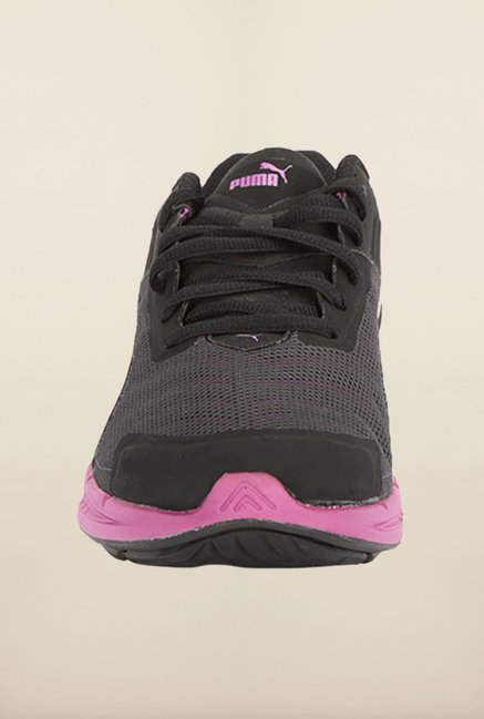 Puma Ignite Black & Purple Running Shoes