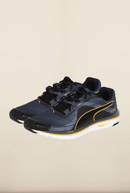 Puma Faas Black & Grey Running Shoes