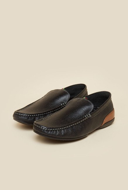 Privo by Inc.5 Black Leather Casual Loafers