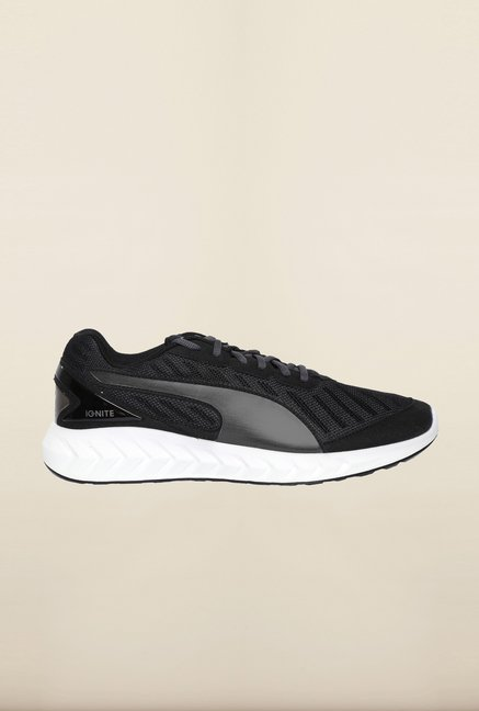Puma Ignite Black & Grey Running Shoes